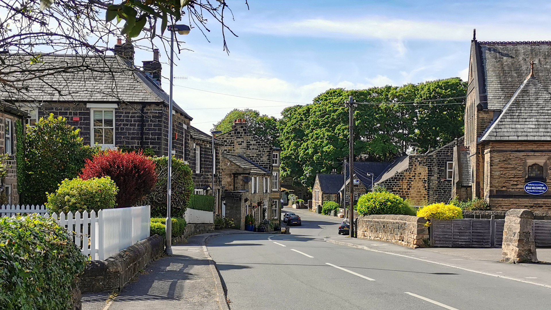 Photograph of Main Street in Menston in West Yorkshire
